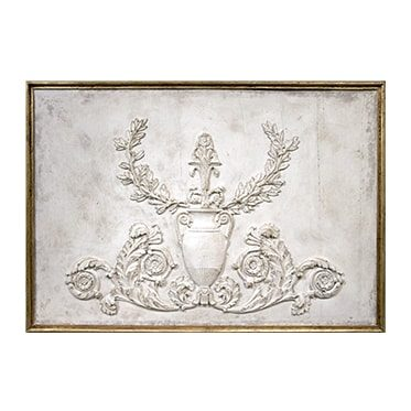 REF : B10 BIS EMPIRE URN BOISERIE WHITE AND GOLD