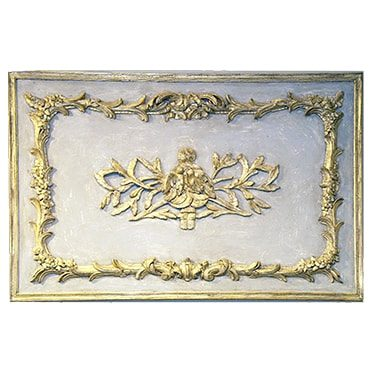 REF : B15 LOUIS XV BIRDS BOISERIE GREEN AND GOLD