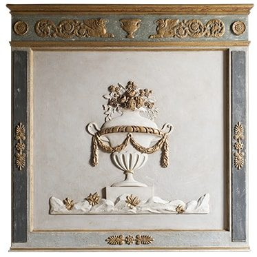 REF : B19 EMPIRE URN BOISERIE GREEN AND GREY
