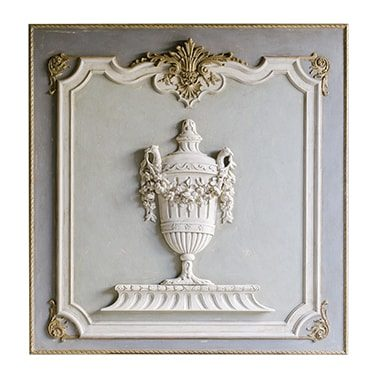 REF : B24 LOUIS XVI BOISERIE WITH URN GREY, SWEET GREEN AND GOLD