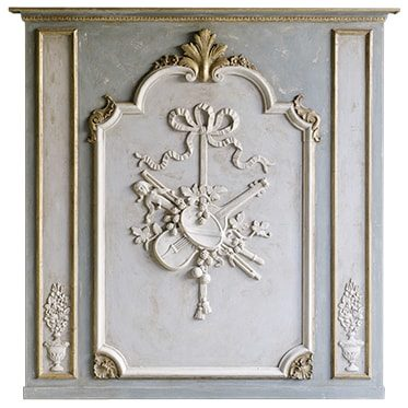 REF : B25 LOUIS XV BOISERIE WITH VIOLIN GREEN GREY AND GOLD