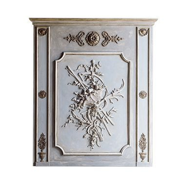 REF : B32 LARGE LOUIS XV GARDEN BOISERIE GREY AND BLUE