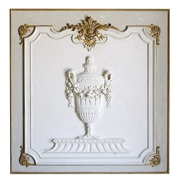 REF : B36 LOUIS XVI BOISERIE WITH URN WHITE AND GOLD