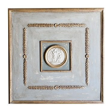 REF : B4 INTAGLIO BOISERIE BLUE GREY AND GOLD