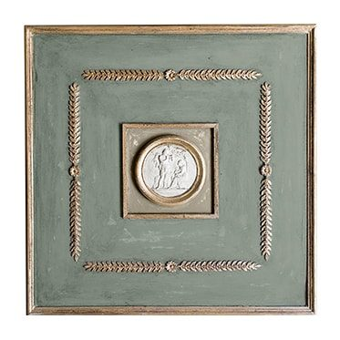 REF : B5 INTAGLIO BOISERIE GREEN, GREY AND GOLD