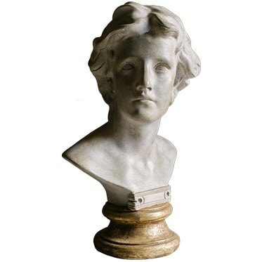 REF : PLA20 ALEXANDER THE GREAT BUST GILDED STAND