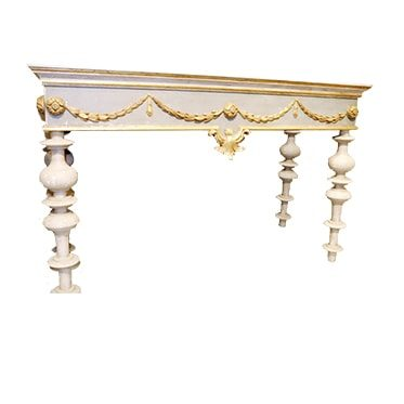 REF : CO15 RENAISSANCE GREEN BEIGE AND GOLD CONSOLE