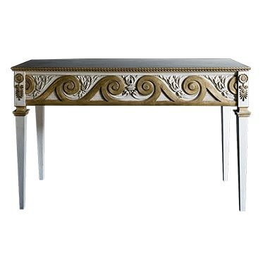 REF : CO16 EMPIRE CONSOLE WHITE AND GOLD