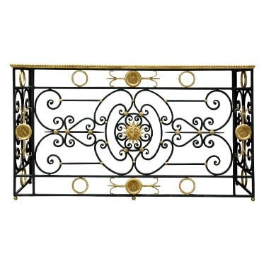 REF : CO24 GILDED & BLACK IRON FORGE CONSOLE KING SUN