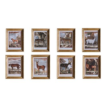 REF : G15 SMALL ANIMALS BUFFON GILDED FRAME