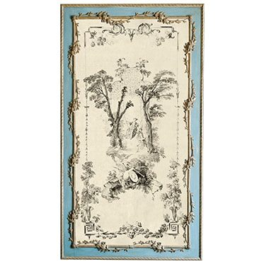 REF : G34B WATTEAU GARDEN (SWING) BLUE AND GOLD