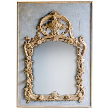 REF : M12 LOUIS XV PROVENCE MIRROR BLUE AND GOLD