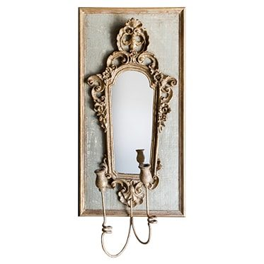 REF : M13 BAROQUE MIRROR SCONCE GREEN AND GOLD