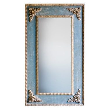 REF : M16 BLUE MIRROR WITH BAROQUE CORNERS