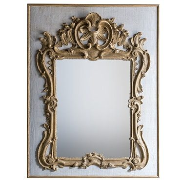 REF : M17 LARGE REGENCY MIRROR GREY AND GOLD