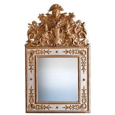REF : M18 LOUIS XIV BERAIN MIRROR WHITE AND GOLD