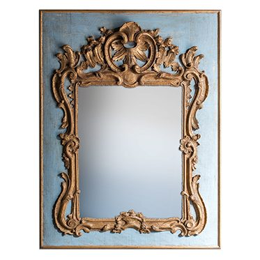 REF : M27 LARGE REGENCY MIRROR BLUE AND GOLD