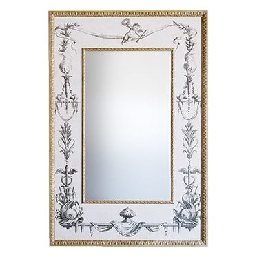 REF : M28 MIRROR WITH FISH ENGRAVING
