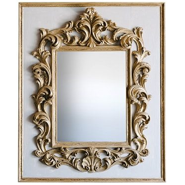 REF : M34 LARGE BAROQUE MIRROR GREY AND GOLD