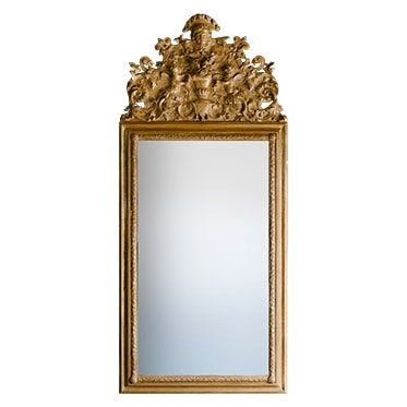 REF : M43 LOUIS XIV PUTTI MIRROR, GOLD