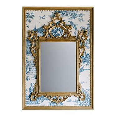REF : M47 LARGE VENETIAN MIRROR ON JAPAN Nº06 WHITE & BLUE