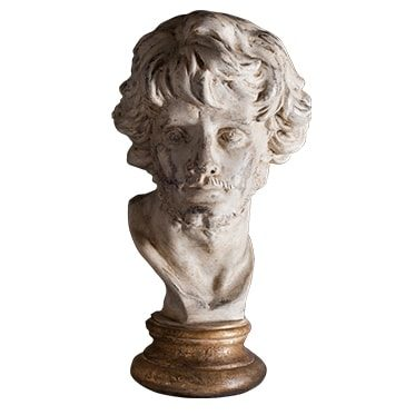 REF : PLA14 ACADEMIC BUST GILDED STAND