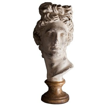 REF : PLA8 APOLLON BUST GILDED STAND