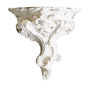 REF : SOC11 FLOWERED LOUIS XV BRACKET WHITE