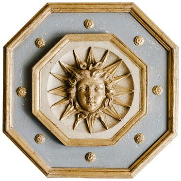 REF : B40 ROI SOLEIL BOISERIE GREY BLUE AND GOLD