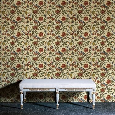 REF : BAROQUE FLOWERS 01 BEIGE WALLPAPER