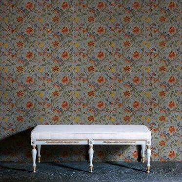 REF : BAROQUE FLOWERS 03 GREY WALLPAPER