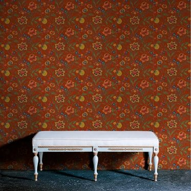 REF : BAROQUE FLOWERS 07 RED WALLPAPER