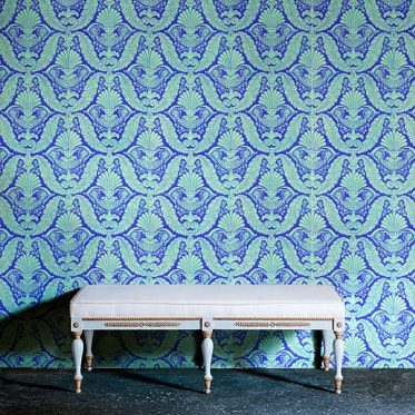 REF : EMPIRE 01 BLUE & GREEN WALLPAPER
