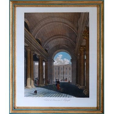 REF : G66 (B)  LARGE LOUVRE VIEWS TELEGRAPH, BLUE & GOLD