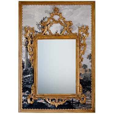 REF : M47 (RUINS) LARGE VENETIAN MIRROR ON RUINS IN THE COUNTRYSIDE