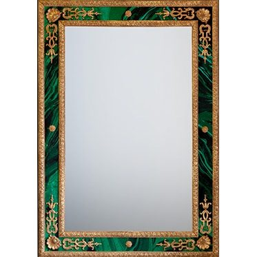 REF : M49 LOUIS XIV BERAIN MIRROR, MALACHITE & GOLD