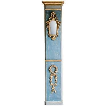 REF : PIL6 BAROQUE PILASTER WITH MIRROR BLUE
