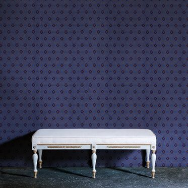 REF : FLEURON 05 DEEP BLUE WALLPAPER