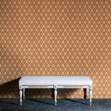 REF : FLEURON 10 TERRACOTTA & YELLOW WALLPAPER