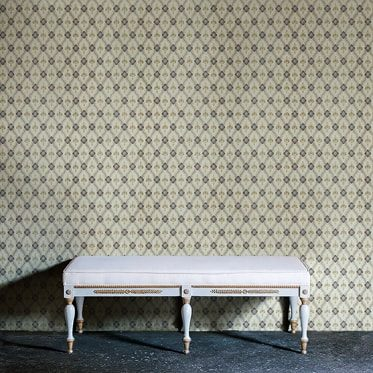 REF : FLEURON 14 LIGHT BLUE & TAUPE WALLPAPER