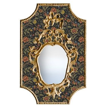 REF : M38 VENETIAN MIRROR ON BAROQUE FLOWERS Nº02 BLACK