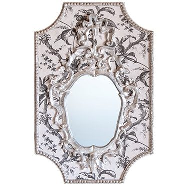 REF : M38 (SILVER) VENETIAN MIRROR ON TOILE DE JOUY 05