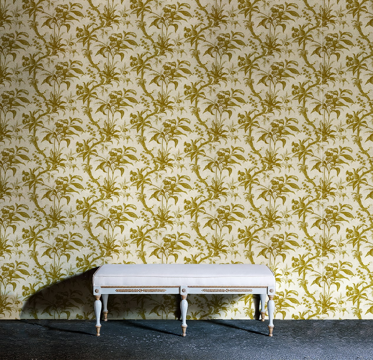 Green Toile Wallpaper  Group