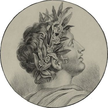 REF : G93 PORTRAIT WITH A LAUREL CROWN